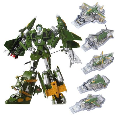 Transformable Transform 3D Alloy Robot FighterMovies &amp; TV Action Figures<br>Transformable Transform 3D Alloy Robot Fighter<br><br>Completeness: Finished Goods<br>Gender: Unisex<br>Materials: Alloy<br>Package Contents: 1 x Robot<br>Package size: 20.00 x 10.00 x 10.00 cm / 7.87 x 3.94 x 3.94 inches<br>Package weight: 0.4720 kg<br>Product size: 19.00 x 9.00 x 7.00 cm / 7.48 x 3.54 x 2.76 inches<br>Product weight: 0.1800 kg<br>Stem From: Other<br>Theme: Movie and TV