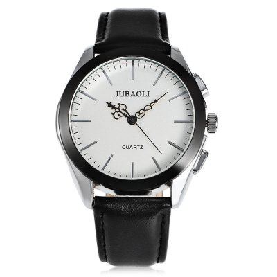 JUBAOLI 1174 Casual Men Quartz WatchMens Watches<br>JUBAOLI 1174 Casual Men Quartz Watch<br><br>Available Color: Black,White<br>Band material: Leather<br>Band size: 25.5 x 2.1 cm / 10.04 x 0.83 inches<br>Brand: Jubaoli<br>Case material: Alloy<br>Clasp type: Pin buckle<br>Dial size: 4.3 x 4.3 x 1.3 cm / 1.69 x 1.69 x 0.51 inches<br>Display type: Analog<br>Movement type: Quartz watch<br>Package Contents: 1 x JUBAOLI 1174 Casual Men Quartz Watch, 1 x Box<br>Package size (L x W x H): 8.50 x 8.00 x 5.30 cm / 3.35 x 3.15 x 2.09 inches<br>Package weight: 0.122 kg<br>Product size (L x W x H): 25.50 x 4.30 x 1.30 cm / 10.04 x 1.69 x 0.51 inches<br>Product weight: 0.058 kg<br>Shape of the dial: Round<br>Watch style: Casual<br>Watches categories: Male table<br>Water resistance : Life water resistant<br>Wearable length: 19 - 23 cm / 7.48 - 9.06 inches