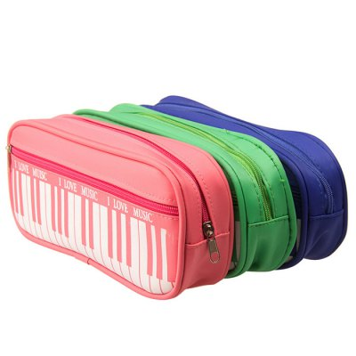 Piano Style Pen PouchDesk Organizers<br>Piano Style Pen Pouch<br><br>Color: Black,Blue,Green,Pink,Red<br>Features: Piano Pattern<br>Package Contents: 1 x Pen Pouch<br>Package size (L x W x H): 22.00 x 23.50 x 5.00 cm / 8.66 x 9.25 x 1.97 inches<br>Package weight: 0.130 kg<br>Product size (L x W x H): 20.50 x 8.50 x 4.00 cm / 8.07 x 3.35 x 1.57 inches<br>Product weight: 0.086 kg