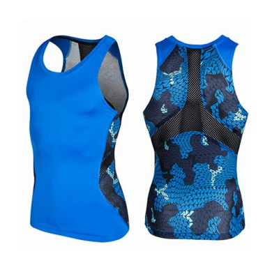 Camo Print Tight Fit Breathable Mesh Vest