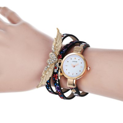 JINFAN Fashion Three-loop Lady Quartz Watch BraceletWomens Watches<br>JINFAN Fashion Three-loop Lady Quartz Watch Bracelet<br><br>Band material: PU Leather<br>Band size: 55.2 x 0.6 cm / 21.73 x 0.24 inches<br>Case material: Alloy<br>Clasp type: Buckle<br>Dial size: 2.2 x 2.2 x 0.8 cm / 0.87 x 0.87 x 0.31 inches<br>Display type: Analog<br>Movement type: Quartz watch<br>Package Contents: 1 x JINFAN Fashion Three-loop Lady Quartz Watch Bracelet<br>Package size (L x W x H): 20.00 x 3.20 x 1.80 cm / 7.87 x 1.26 x 0.71 inches<br>Package weight: 0.056 kg<br>Product size (L x W x H): 55.20 x 2.20 x 0.80 cm / 21.73 x 0.87 x 0.31 inches<br>Product weight: 0.026 kg<br>Shape of the dial: Round<br>Watch color: Black + Purple, Yellow + Black, Blue, Gray<br>Watch style: Fashion<br>Watches categories: Female table