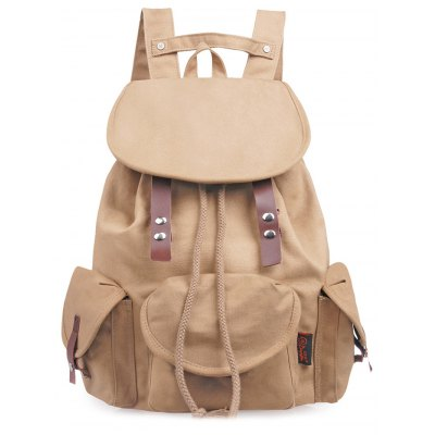 Douguyan Solid Preppy Backpack