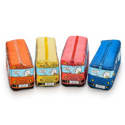 Creative School Bus Style Pen PouchDesk Organizers<br>Creative School Bus Style Pen Pouch<br><br>Color: Blue,Orange,Red,Yellow<br>Features: Creative and Funny<br>Package Contents: 1 x Pen Pouch<br>Package size (L x W x H): 19.00 x 17.00 x 9.50 cm / 7.48 x 6.69 x 3.74 inches<br>Package weight: 0.146 kg<br>Product size (L x W x H): 17.50 x 6.30 x 8.10 cm / 6.89 x 2.48 x 3.19 inches<br>Product weight: 0.085 kg