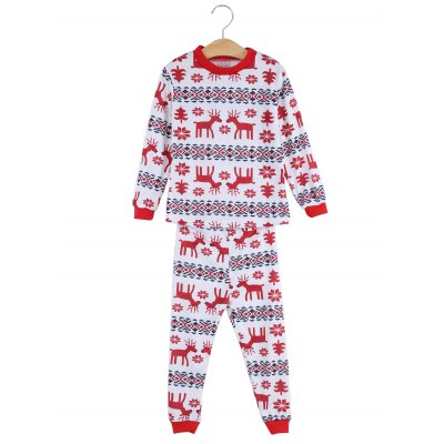 Christmas Gift Floral Animal Print Parents-child Pajamas SuitPajamas<br>Christmas Gift Floral Animal Print Parents-child Pajamas Suit<br><br>Material: Polyester<br>Package Contents: 1 x Long Sleeves T-shirt, 1 x Pair of Pants<br>Package size: 32.00 x 15.00 x 6.00 cm / 12.6 x 5.91 x 2.36 inches<br>Package weight: 0.186 kg<br>Product weight: 0.150 kg