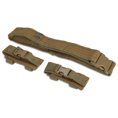Multifunctional Tactical BeltGun Holsters<br>Multifunctional Tactical Belt<br><br>Belt Width: 5.3cm<br>For: Camping, Climbing, Other Outdoor Activities<br>Functions: Quick release buckle, Wear-resistant, waist bag and other tools, Non-magnetic, Light weight, Hung Dagger, Fasten the clothes, Easy to put on and untie<br>Length: 120cm<br>Package Contents: 1 x Belt, 2 x Pouch<br>Package size (L x W x H): 22.00 x 12.00 x 7.00 cm / 8.66 x 4.72 x 2.76 inches<br>Package weight: 0.280 kg<br>Product size (L x W x H): 120.00 x 5.30 x 0.50 cm / 47.24 x 2.09 x 0.2 inches<br>Product weight: 0.244 kg<br>Type: Easy to put on and untie