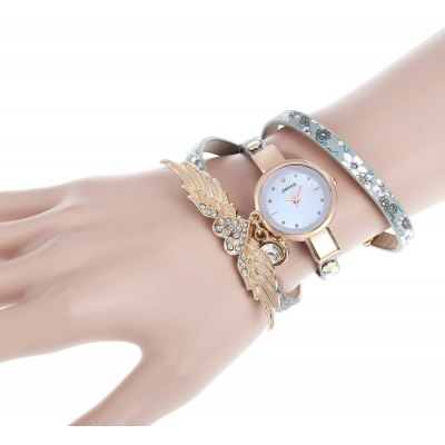JINFAN Fashion Three-loop Lady Quartz Watch Bracelet
