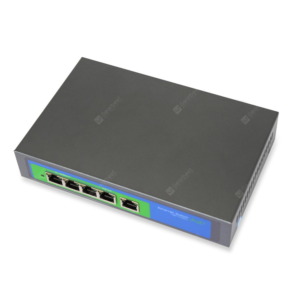104POE - 5X - M Fast Ethernet PoE Switch 10 / 100Mbps