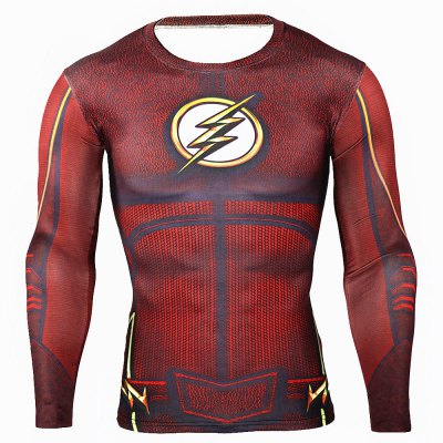 Classic Cartoon Hero 3D Print Tight Fitness T-shirtWeight Lifting Clothes<br>Classic Cartoon Hero 3D Print Tight Fitness T-shirt<br><br>Color: Black,Red,Yellow<br>Features: Breathable, High elasticity, Quick Dry<br>Gender: Men<br>Material: Polyester<br>Package Content: 1 x T-shirt<br>Package size: 40.00 x 30.00 x 1.00 cm / 15.75 x 11.81 x 0.39 inches<br>Package weight: 0.2200 kg<br>Product weight: 0.1600 kg<br>Size: 2XL,3XL,L,M,XL<br>Types: Long Sleeves