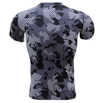 Color Block Grid Print Tight T-shirtWeight Lifting Clothes<br>Color Block Grid Print Tight T-shirt<br><br>Color: Black,Gray<br>Features: Breathable, High elasticity, Quick Dry<br>Gender: Men<br>Material: Polyester<br>Package Content: 1 x T-shirt<br>Package size: 40.00 x 30.00 x 1.00 cm / 15.75 x 11.81 x 0.39 inches<br>Package weight: 0.220 kg<br>Product weight: 0.160 kg<br>Size: 2XL,3XL,L,M,XL<br>Types: Short Sleeves