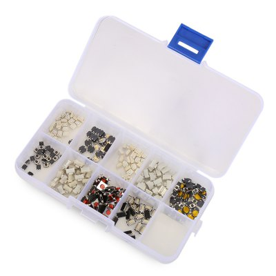 250PCS Push Button Switch ModuleDIY Parts &amp; Components<br>250PCS Push Button Switch Module<br><br>Package Contents: 250 x Module, 1 x Box<br>Package Size(L x W x H): 14.00 x 8.00 x 4.00 cm / 5.51 x 3.15 x 1.57 inches<br>Package weight: 0.060 kg<br>Product Size(L x W x H): 13.00 x 6.70 x 2.10 cm / 5.12 x 2.64 x 0.83 inches<br>Product weight: 0.047 kg<br>Type: Electric Components