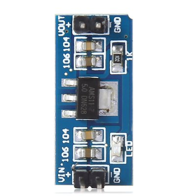 2PCS AMS1117 Power Supply Module for ArduinoRelays<br>2PCS AMS1117 Power Supply Module for Arduino<br><br>Output Current: 800mA<br>Output Voltage: 5.0V<br>Package Contents: 2 x 6.0V - 12V to 5V AMS1117 Power Supply Module<br>Package Size(L x W x H): 4.00 x 3.00 x 3.00 cm / 1.57 x 1.18 x 1.18 inches<br>Package weight: 0.020 kg<br>Product Size(L x W x H): 2.50 x 1.10 x 1.10 cm / 0.98 x 0.43 x 0.43 inches<br>Product weight: 0.003 kg<br>Type: AMS1117 Power Supply Module