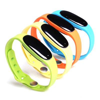L7 Smart WristbandSmart Watches<br>L7 Smart Wristband<br><br>Alert type: Vibration<br>Available Color: Black,Blue,Green,Orange,Yellow<br>Band material: Silicone<br>Band size: 26.3 x 1.1 cm / 10.35 x 0.43 inches<br>Battery  Capacity: 60mAh<br>Bluetooth Version: Bluetooth 4.0<br>Case material: ABS<br>Charging Time: About 60mins<br>Compatability: Android 4.3 / iOS 7.0 and above systems<br>Compatible OS: Android, IOS<br>Dial size: 3.8 x 1.8 x 1 cm / 1.50 x 0.71 x 0.39 inches<br>Functions: Notification of app, Sedentary reminder, Sleep management, SMS Reminding, Steps counting, Distance recording, Camera remote control, Calories burned measuring, Call reminder, Alarm Clock<br>IP rating: IP67<br>Language: English,Simplified Chinese<br>Notification type: Wechat<br>Operating mode: Touch Screen<br>Package Contents: 1 x L7 Smart Wristband, 1 x Chinese User Manual, 1 x Charging Cable<br>Package size (L x W x H): 9.60 x 9.60 x 3.00 cm / 3.78 x 3.78 x 1.18 inches<br>Package weight: 0.148 kg<br>People: Female table,Male table<br>Product size (L x W x H): 26.30 x 1.80 x 1.00 cm / 10.35 x 0.71 x 0.39 inches<br>Product weight: 0.010 kg<br>Screen type: OLED<br>Shape of the dial: Elliptical<br>Type of battery: Li-polymer Battery<br>Waterproof: Yes<br>Wearable length: 17.8 - 25 cm / 7.01 - 9.84 inches