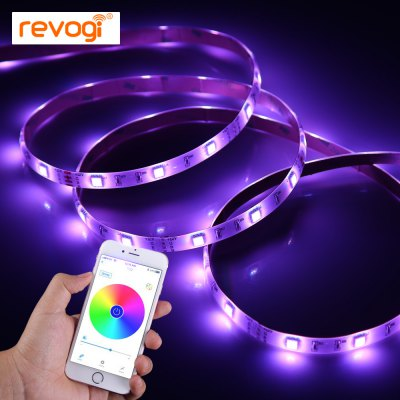 Revogi Smart Light Strip AC Plug EditionSmart Lighting<br>Revogi Smart Light Strip AC Plug Edition<br><br>Available Light Color: RGB<br>Brand: Revogi<br>Features: APP Control, Bluetooth<br>Function: Studio and Exhibition Lighting, Home Lighting, Commercial Lighting<br>Holder: Wired<br>Lifespan: 50000h or more<br>Output Power: 24W<br>Package Contents: 1 x Revogi LED Light Strip, 1 x US Plug Adapter, 1 x Controller Cable, 1 x English Manual<br>Package size (L x W x H): 19.00 x 10.00 x 10.00 cm / 7.48 x 3.94 x 3.94 inches<br>Package weight: 0.480 kg<br>Product weight: 0.108 kg<br>Voltage (V): AC 100-240V