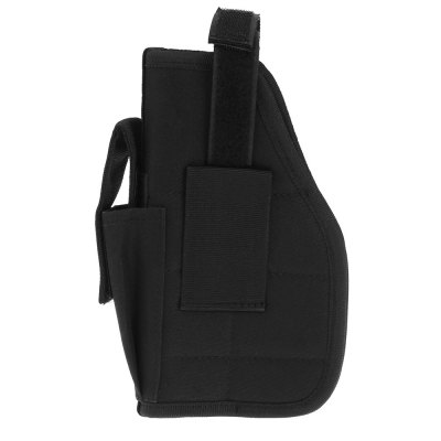 Universal Military Waist Bag for Outdoor SportsGun Holsters<br>Universal Military Waist Bag for Outdoor Sports<br><br>Color: Black<br>For: Outdoor Sports<br>Material: Nylon<br>Package Contents: 1 x Military Waist Bag<br>Package size (L x W x H): 15.00 x 6.00 x 23.00 cm / 5.91 x 2.36 x 9.06 inches<br>Package weight: 0.210 kg<br>Product size (L x W x H): 14.00 x 5.00 x 21.50 cm / 5.51 x 1.97 x 8.46 inches<br>Product weight: 0.172 kg<br>Size: One Size<br>Type: Waist Bag