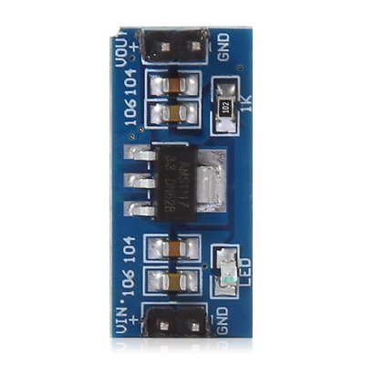 2PCS 3.3V AMS1117 Power Supply Module DIY for ArduinoRelays<br>2PCS 3.3V AMS1117 Power Supply Module DIY for Arduino<br><br>Mainly Compatible with: Ardunio<br>Output Current: 800mA<br>Output Voltage: 3.3V<br>Package Contents: 2 x 3.3V AMS1117 Power Supply Module, 2 x 3.3V AMS1117 Power Supply Module<br>Package Size(L x W x H): 6.00 x 5.00 x 3.00 cm / 2.36 x 1.97 x 1.18 inches, 6.00 x 5.00 x 3.00 cm / 2.36 x 1.97 x 1.18 inches<br>Package weight: 0.015 kg, 0.015 kg<br>Product Size(L x W x H): 2.60 x 1.10 x 1.10 cm / 1.02 x 0.43 x 0.43 inches, 2.60 x 1.10 x 1.10 cm / 1.02 x 0.43 x 0.43 inches<br>Product weight: 0.002 kg<br>Type: Power Supply Module