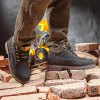 Water-resistant Genuine Leather Fleece Lined Hiking Boots photo