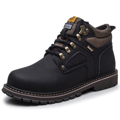 Water-resistant Genuine Leather Fleece Lined Hiking Boots