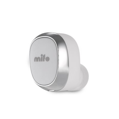 MIFO U0 Bluetooth HeadsetEarbud Headphones<br>MIFO U0 Bluetooth Headset<br><br>Application: Mobile phone, Portable Media Player<br>Battery Capacity(mAh): 60mAh for headset, 500mAh for power charger<br>Battery Types: Built-in Li-ion battery<br>Bluetooth: Yes<br>Bluetooth Version: V4.1<br>Brand: mifo<br>Charging Time.: 1h for headset, 3h for power charger<br>Compatible with: Mobile phone<br>Connectivity: Wireless<br>Frequency response: 20~20KHz<br>Function: Answering Phone, Sweatproof, Bluetooth, Noise Cancelling<br>Impedance: 16ohms<br>Language: English<br>Material: PC, ABS<br>Model: U0<br>Music Time: 4h<br>Package Contents: 1 x MIFO U0 Waterproof Bluetooth Headset, 1 x USB Cable, 3 x Ear Tip, 1 x Power Charger, 1 x English User Manual, 1 x Storage Box<br>Package size (L x W x H): 13.00 x 5.50 x 5.00 cm / 5.12 x 2.17 x 1.97 inches<br>Package weight: 0.129 kg<br>Product size (L x W x H): 2.00 x 1.50 x 2.00 cm / 0.79 x 0.59 x 0.79 inches<br>Product weight: 0.004 kg<br>Sensitivity: 100 ± 3 dB<br>Standby time: About a week<br>Talk time: 4h