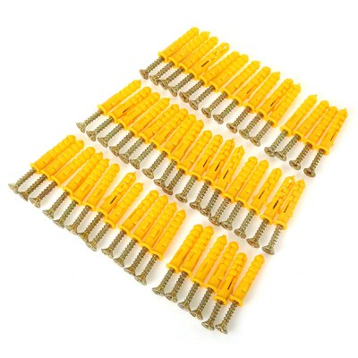 50PCS 30mm Setscrew with Plastic Expansion Tube Plug for Home Use