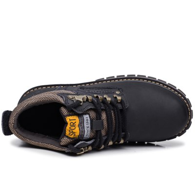 Water-resistant Genuine Leather Fleece Lined Hiking BootsMens Boots<br>Water-resistant Genuine Leather Fleece Lined Hiking Boots<br><br>Available Size: 37, 38, 39, 40, 41, 42, 43, 44, 45, 46, 47<br>Closure Type: Lace-Up<br>Color: Black,Deep Brown,Deep yellow,Light Brown<br>Features: Water Resistant, Durable, Crashworthy, Breathable, Anti-slip<br>Gender: Men<br>Highlights: Warm Keeping<br>Package Contents: 1 x Pair of Shoes<br>Package size: 35.00 x 26.00 x 13.00 cm / 13.78 x 10.24 x 5.12 inches<br>Package weight: 1.264 kg<br>Product weight: 1.005 kg<br>Season: Winter<br>Type: Hiking Shoes<br>Upper Height: High