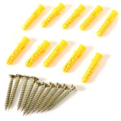 10PCS 50mm Setscrew with Plastic Expansion Tube Plug for Home Use