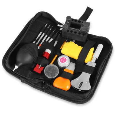 Watch Repair Toolkit Practical Household Tool SetOther Tools<br>Watch Repair Toolkit Practical Household Tool Set<br><br>Package Contents: 1 x Watch Toolkit<br>Package size (L x W x H): 22.00 x 12.00 x 6.00 cm / 8.66 x 4.72 x 2.36 inches<br>Package weight: 0.520 kg<br>Product size (L x W x H): 20.50 x 10.00 x 4.50 cm / 8.07 x 3.94 x 1.77 inches<br>Product weight: 0.497 kg<br>Special Functions : Watch Clock Opener Tool Repair Set