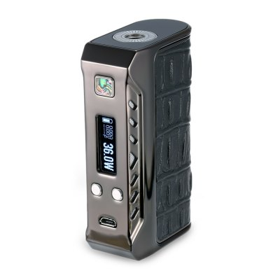 Original Think Vape Finder 167W ModTemperature Control Mods<br>Original Think Vape Finder 167W Mod<br><br>Accessories type: MOD<br>APV Mod Wattage: 167W<br>APV Mod Wattage Range: 151-200W<br>Battery Cover Type: Magnetic<br>Battery Form Factor: 18650<br>Battery Quantity: 2pcs ( not included )<br>Brand: Think Vape<br>Material: Zinc Alloy, Leather, Carbon Fiber<br>Mod: Temperature Control Mod,VV/VW Mod<br>Model: Finder 167W<br>Package Contents: 1 x Think Vape Finder 167W Mod, 1 x USB Cable, 1 x English Manual<br>Package size (L x W x H): 12.30 x 10.40 x 3.90 cm / 4.84 x 4.09 x 1.54 inches<br>Package weight: 0.2970 kg<br>Product size (L x W x H): 9.00 x 5.30 x 2.60 cm / 3.54 x 2.09 x 1.02 inches<br>Product weight: 0.1730 kg<br>Temperature Control Range: 200 - 600 Deg.F<br>Type: Electronic Cigarettes Accessories