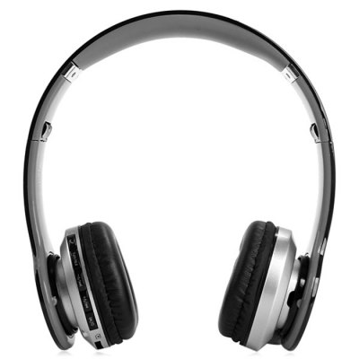 S450 Extensible Bluetooth Hands Free Stereo Headset FM Music Headphone with Mic 3.5mm Jack TF Card Slot