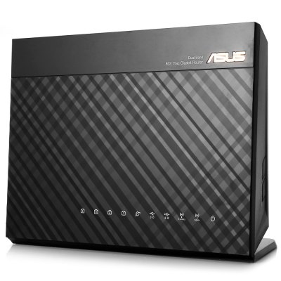 ASUS RT-AC68U Wireless RouterWireless Routers<br>ASUS RT-AC68U Wireless Router<br><br>Brand: ASUS<br>DC Port: 5.5 x 2.5<br>Features: Broadband<br>Freq: 50Hz-60Hz<br>Interface: RJ45, USB 3.0<br>LAN Ports: 4 ports<br>Language: Chinese,English<br>Max. LAN Data Rate: 1200Mbps above<br>Model: RT-AC68U<br>Network Protocols: IEEE 802.11a,IEEE 802.11ac,IEEE 802.11b,IEEE 802.11g,IEEE 802.11n<br>Package size: 30.50 x 23.20 x 9.50 cm / 12.01 x 9.13 x 3.74 inches<br>Package weight: 1.502 kg<br>Packing List: 1 x ASUS RT-AC68U Wireless Router, 1 x RJ-45 Cable, 1 x Power Adapter, 3 x Antenna, 1 x CD, 1 x 7 Languages Manual (English, Simplified Chinese, Traditional Chinese, Japanese, Bahasa Indonesia, Bahasa<br>Product size: 22.00 x 16.00 x 8.50 cm / 8.66 x 6.3 x 3.35 inches<br>Product weight: 0.638 kg<br>Quantity of Antenna: 3<br>Router Connectivity Type: Wireless, Ethernet<br>Speed of Ethernet Port: 1000Mbps<br>Supports System: Mac OS, Windows 8.1, Windows 8, Windows 7, Win vista, Win 2000, Linux<br>Transmission Rate: 1900Mbps<br>Type: Router<br>Usage: Home use<br>WiFi Distance : 550m<br>Wireless Security: 64/128 Bit WEP, WPA, WPA-PSK, WPS, WPA2-PSK, WPA2<br>Wireless Standard: Wireless AC,Wireless G,Wireless N<br>Working Voltage: 12V 2.5A
