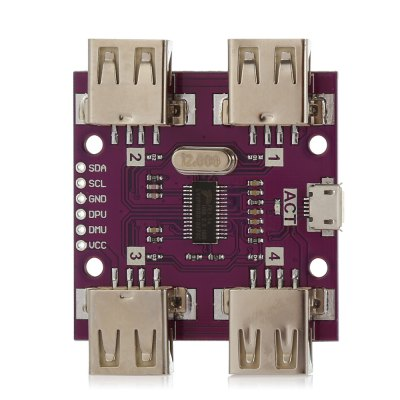 USB 2.0 4 Port Hub Connector Extension Board