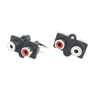 Full Function 2 Female RCA Sockets AV Converters for Learners to DIY  -   ( DC 50V 0.3A / 10PCS )DIY Parts &amp; Components<br>Full Function 2 Female RCA Sockets AV Converters for Learners to DIY  -   ( DC 50V 0.3A / 10PCS )<br><br>Material: Plastic + Copper<br>Product weight: 0.041 kg<br>Package weight: 0.080 kg<br>Product Size(L x W x H): 2.60 x 2.50 x 2.00 cm / 1.02 x 0.98 x 0.79 inches<br>Package Size(L x W x H): 13.50 x 10.00 x 3.00 cm / 5.31 x 3.94 x 1.18 inches<br>Package Contents: 10 x DIY DC 50V 0.3A 2 Female RCA Sockets