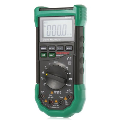 MASTECH MS8268 Digital Multimeter Auto Ranging DMM with Sound Light Alarm / LCD Display