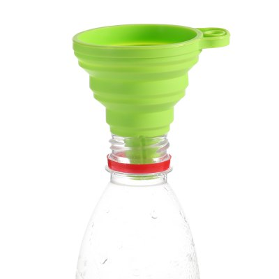 SUMSHUN Kitchen Round Silicone Folding Funnel
