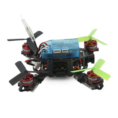 KingKong Q90 90mm Mini Brushless FPV Racing Drone - PNPBrushless FPV Racer<br>KingKong Q90 90mm Mini Brushless FPV Racing Drone - PNP<br><br>Battery (mAh): 350mAh 7.4V 2S 35C lithium-ion ( included )<br>Brand: KingKong<br>Continuous Current: 6A<br>CW / CCW: CCW,CW<br>Firmware: BLHeli<br>KV: 7800<br>Model: 1103<br>Package Contents: 1 x Frame Kit, 1 x Micro F3 Flight Controller, 4 x Motor, 4 x ESC, 1 x FPV Camera, 4 x Three-blade Propeller, 1 x 350mAh 7.4V 2S 35C Battery, 1 x Micro PDB, 1 x Wrench, 1 x 4-pin Cable<br>Package size (L x W x H): 28.00 x 20.00 x 10.00 cm / 11.02 x 7.87 x 3.94 inches<br>Package weight: 0.238 kg<br>Product weight: 0.054 kg<br>Type: Frame Kit<br>Version: PNP<br>Video Resolution: 800TVL