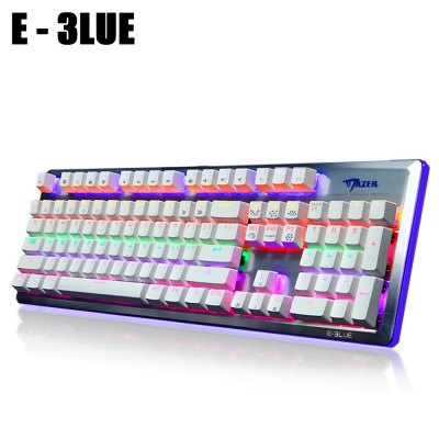 E - 3LUE K727 Mechanical Keyboard Gaming Used 104 Keys