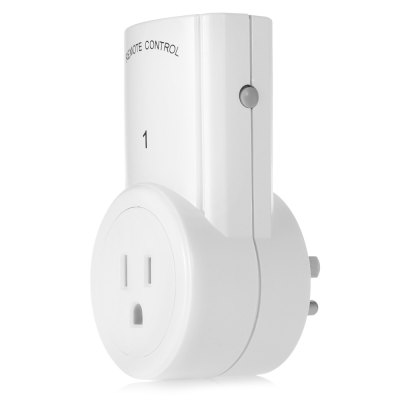 TS  -  832  -  3 - 2 3pcs Wireless Outlet in US Plug with 2pcs Remote Controller for Home and Office