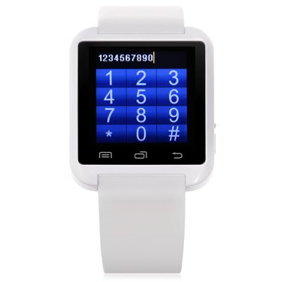 U8 Pro Smartwatch PhoneSmart Watch Phone<br>U8 Pro Smartwatch Phone<br><br>Type: Watch Phone<br>CPU: MTK6261<br>RAM: 32MB<br>ROM: 32MB<br>External Memory: Not Supported<br>Wireless Connectivity: Bluetooth,GSM<br>Network type: GSM<br>Frequency: GSM850/900/1800/1900MHz<br>Bluetooth: Yes<br>Bluetooth version: V3.0<br>Screen type: Capacitive<br>Screen size: 1.44 inch<br>Camera type: No camera<br>SIM Card Slot: Single SIM(Micro SIM slot)<br>Micro USB Slot: Yes<br>Speaker: Supported<br>Languages: Simplified Chinese, French, Spanish, Indonesian, Turkish, Malay German, Dutch, Swedish, Danish, Italian<br>Additional Features: 2G,Bluetooth,Calculator...,Calendar,Notification,People<br>Functions: Anti-lost alert,Remote Camera,Sedentary reminder,Sleep monitoring<br>Cell Phone: 1<br>Battery: 230mAh Built-in<br>USB Cable: 1<br>User Manual: 1<br>Product size: 4.80 x 4.00 x 1.10 cm / 1.89 x 1.57 x 0.43 inches<br>Package size: 12.00 x 9.00 x 6.00 cm / 4.72 x 3.54 x 2.36 inches<br>Product weight: 0.050 kg<br>Package weight: 0.150 kg