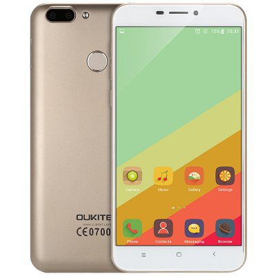 gearbest Oukitel U20 Plus MTK6737 1.5GHz 4コア CHAMPAGNE GOLD(シャンペンゴールド)