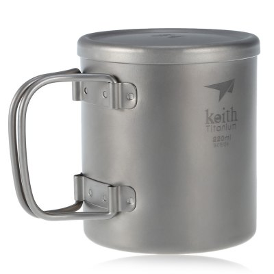 Keith Ti3351 Titanium CupCamp Kitchen<br>Keith Ti3351 Titanium Cup<br><br>Best Use: Backpacking,Camping,Climbing,Hiking<br>Brand: Keith<br>Color: Titanium Grey<br>Features: Ultralight, Portable, Foldable, Durable, Compact size<br>Material: Titanium<br>Package Contents: 1 x Keith Ti3351 Cup, 1 x Cover<br>Package Dimension: 8.00 x 8.00 x 9.50 cm / 3.15 x 3.15 x 3.74 inches<br>Package weight: 0.155 kg<br>Product Dimension: 7.00 x 7.00 x 7.80 cm / 2.76 x 2.76 x 3.07 inches<br>Product weight: 0.098 kg<br>Type: Tableware