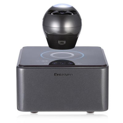Excelvan F1 Floating Music PlayerSpeakers<br>Excelvan F1 Floating Music Player<br><br>Audio Source: Bluetooth Enabled Devices,Electronic Products with USB port<br>Battery Capacity: 1200mAh<br>Bluetooth Version: V4.0<br>Brand: EXCELVAN<br>Charging Time: 3 hours<br>Compatible with: PC, PSP, Tablet PC, TF/Micro SD Card, MP5, MP4, MP3, Mobile phone, Laptop, iPod, iPhone<br>Connection: Wireless<br>Design: Large, Stylish<br>Interface: Micro USB<br>Model: F1<br>Number of Speakers: 1<br>Package Contents: 1 x Excelvan F1 Levitating Speaker , 1 x Speaker Base, 1 x Power Adapter, 1 x USB Cable, 1 x Positioning Mat, 1 x English Manual<br>Package size (L x W x H): 24.00 x 24.00 x 25.00 cm / 9.45 x 9.45 x 9.84 inches<br>Package weight: 2.5900 kg<br>Power Output: 3W<br>Product weight: 1.7800 kg<br>S/N: 70dB<br>Sound channel: Two-channel (stereo)<br>Standby time: 24 hours<br>Supports: Bluetooth, LED Shinning<br>Transmission Distance: W/O obstacles 10m<br>Usage: House<br>Working Time: 4 hours