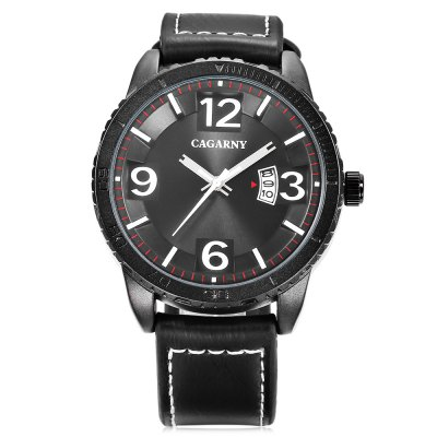 CAGARNY 9857 Men Quartz WatchMens Watches<br>CAGARNY 9857 Men Quartz Watch<br><br>Band material: Leather, Leather<br>Band size: 26 x 2 cm / 10.24 x 0.79 inches, 26 x 2 cm / 10.24 x 0.79 inches<br>Brand: Cagarny<br>Case material: Alloy, Alloy<br>Clasp type: Pin buckle, Pin buckle<br>Dial size: 4.5 x 4.5 x 1.5 cm / 1.77 x 1.77 x 0.59 inches, 4.5 x 4.5 x 1.5 cm / 1.77 x 1.77 x 0.59 inches<br>Display type: Analog, Analog<br>Movement type: Quartz watch, Quartz watch<br>Package Contents: 1 x CAGARNY 9857 Men Quartz Watch, 1 x Box , 1 x CAGARNY 9857 Men Quartz Watch, 1 x Box<br>Package size (L x W x H): 10.20 x 7.80 x 7.50 cm / 4.02 x 3.07 x 2.95 inches, 10.20 x 7.80 x 7.50 cm / 4.02 x 3.07 x 2.95 inches<br>Package weight: 0.173 kg, 0.173 kg<br>Product size (L x W x H): 26.00 x 4.50 x 1.50 cm / 10.24 x 1.77 x 0.59 inches, 26.00 x 4.50 x 1.50 cm / 10.24 x 1.77 x 0.59 inches<br>Product weight: 0.070 kg, 0.070 kg<br>Shape of the dial: Round, Round<br>Watch color: White + Black, Black, Coffee + Black , White + Black, Black, Coffee + Black<br>Watch style: Fashion, Fashion<br>Watches categories: Male table, Male table<br>Wearable length: 18.7 - 23.6 cm / 7.36 - 9.29 inches, 18.7 - 23.6 cm / 7.36 - 9.29 inches