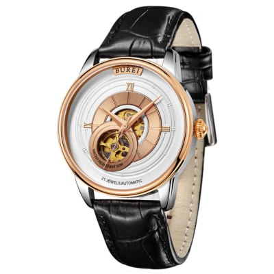 BUREI Male Auto Mechanical Watch