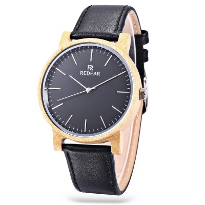 REDEAR SJ1624 - 10 Unisex Wooden Case Quartz Watch