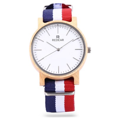 REDEAR SJ1624 - 10 Unisex Wooden Case Quartz WatchUnisex Watches<br>REDEAR SJ1624 - 10 Unisex Wooden Case Quartz Watch<br><br>Band material: Canvas<br>Band size: 24 x 2 cm / 9.45 x 0.79 inches<br>Case material: Wood<br>Clasp type: Pin buckle<br>Dial size: 4 x 4 x 1.1 cm / 1.57 x 1.57 x 0.43 inches<br>Display type: Analog<br>Movement type: Quartz watch<br>Package Contents: 1 x REDEAR SJ1624 - 10 Unisex Quartz Watch<br>Package size (L x W x H): 25.00 x 5.00 x 2.10 cm / 9.84 x 1.97 x 0.83 inches<br>Package weight: 0.070 kg<br>People: Female table,Male table<br>Product size (L x W x H): 24.00 x 4.00 x 1.10 cm / 9.45 x 1.57 x 0.43 inches<br>Product weight: 0.030 kg<br>Shape of the dial: Round<br>Watch color: Black, White, Colormix<br>Watch style: Fashion<br>Wearable length: 17.6 - 21.8 cm / 6.93 - 8.58 inches