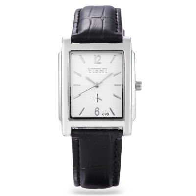 YISHI 898 Unisex Rectangle Dial Quartz WatchUnisex Watches<br>YISHI 898 Unisex Rectangle Dial Quartz Watch<br><br>People: Female table,Male table<br>Watch style: Casual<br>Shape of the dial: Rectangle<br>Movement type: Quartz watch<br>Display type: Analog<br>Case material: Alloy<br>Band material: Leather<br>Clasp type: Pin buckle<br>Dial size: 3.2 x 3.2 x 1 cm / 1.26 x 1.26 x 0.39 inches<br>Band size: 25 x 1.8 cm / 9.84 x 0.71 inches<br>Wearable length: 18 - 22 cm / 7.09 - 8.66 inches<br>Product weight: 0.036 kg<br>Package weight: 0.067 kg<br>Product size (L x W x H): 25.00 x 3.20 x 1.00 cm / 9.84 x 1.26 x 0.39 inches<br>Package size (L x W x H): 26.00 x 4.20 x 2.00 cm / 10.24 x 1.65 x 0.79 inches<br>Package Contents: 1 x Watch