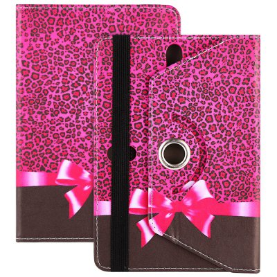 SZKINSTON Leopard Bow Style Protective Case for 7 / 8 inch Tablet PC