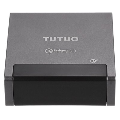 TUTUO QC 3.0 Power DockChargers &amp; Cables<br>TUTUO QC 3.0 Power Dock<br><br>Brand: TUTUO<br>Cable Length (cm): 100cm<br>Color: Gray<br>Features: ALL-in-1<br>Input: 100 - 240V, 50 / 60Hz, 1A<br>Material ( Cable&amp;Adapter): ABS, Aluminum Alloy<br>Output: 3.6 - 6.5V 3A, 6.5 - 9V 2A, 9 - 12V 1.5A, 5V 2.4A ( smart output )<br>Package Contents: 1 x Power Dock, 1 x Power Cable<br>Package size (L x W x H): 17.50 x 14.00 x 4.50 cm / 6.89 x 5.51 x 1.77 inches<br>Package weight: 0.450 kg<br>Plug: EU plug,US plug<br>Product size (L x W x H): 9.00 x 9.00 x 3.20 cm / 3.54 x 3.54 x 1.26 inches<br>Product weight: 0.254 kg<br>Type: Base Dock Charger