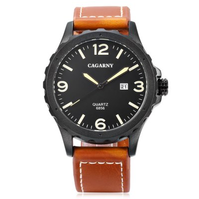 CAGARNY 6856 Men Quartz WatchMens Watches<br>CAGARNY 6856 Men Quartz Watch<br><br>Available Color: Gray,Red,Yellow<br>Band material: Leather<br>Band size: 26 x 2 cm / 10.24 x 0.79 inches<br>Brand: Cagarny<br>Case material: Alloy<br>Clasp type: Pin buckle<br>Dial size: 4.3 x 4.3 x 2.3 cm / 1.69 x 1.69 x 0.91 inches<br>Display type: Analog<br>Movement type: Quartz watch<br>Package Contents: 1 x CAGARNY 6856 Men Quartz Watch, 1 x Box<br>Package size (L x W x H): 10.20 x 7.80 x 7.50 cm / 4.02 x 3.07 x 2.95 inches<br>Package weight: 0.176 kg<br>Product size (L x W x H): 26.00 x 4.30 x 2.30 cm / 10.24 x 1.69 x 0.91 inches<br>Product weight: 0.073 kg<br>Shape of the dial: Round<br>Watch style: Fashion<br>Watches categories: Male table<br>Wearable length: 18.7 - 23.5 cm / 7.36 - 9.25 inches