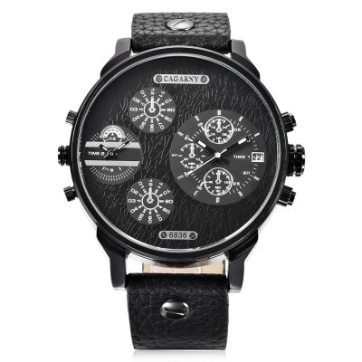 CAGARNY 6836 Men Quartz WatchMens Watches<br>CAGARNY 6836 Men Quartz Watch<br><br>Band material: Leather<br>Band size: 27.2 x 2.4 cm / 9.84 x 0.94 inches<br>Brand: Cagarny<br>Case material: Alloy<br>Clasp type: Pin buckle<br>Dial size: 5 x 5 x 2 cm / 1.97 x 1.97 x 0.79 inches<br>Display type: Analog<br>Movement type: Double-movtz<br>Package Contents: 1 x CAGARNY 6836 Men Quartz Watch, 1 x Box<br>Package size (L x W x H): 10.20 x 7.80 x 7.50 cm / 4.02 x 3.07 x 2.95 inches<br>Package weight: 0.183 kg<br>Product size (L x W x H): 27.20 x 5.00 x 2.00 cm / 10.71 x 1.97 x 0.79 inches<br>Product weight: 0.080 kg<br>Shape of the dial: Round<br>Watch style: Fashion<br>Watches categories: Male table<br>Wearable length: 19.8 - 24.8 cm / 7.80 - 9.76 inches