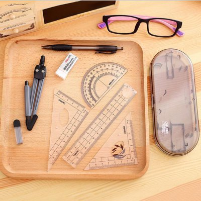 Deli 8 in 1 Student Compass Ruler Gauge Drawing SetOther Supplies<br>Deli 8 in 1 Student Compass Ruler Gauge Drawing Set<br><br>Brand: Deli<br>Material: Plastic<br>Color: Blue<br>Product weight: 0.114 kg<br>Package weight: 0.130 kg<br>Product size (L x W x H): 17.50 x 7.10 x 2.50 cm / 6.89 x 2.8 x 0.98 inches<br>Package size (L x W x H): 24.00 x 10.10 x 3.50 cm / 9.45 x 3.98 x 1.38 inches<br>Package Contents: 4 x Ruler, 1 x Eraser, 1 x Pencil, 1 x Compass, 1 x Refill